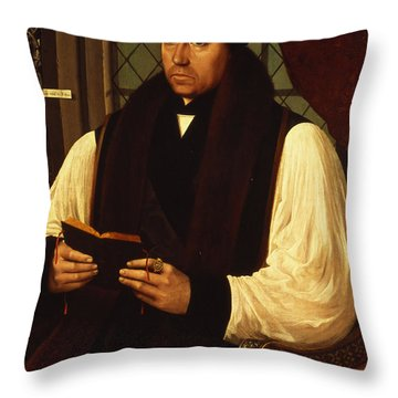 Portrait Of Thomas Cranmer Throw Pillow by Gerlach Flicke