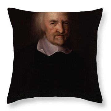 Portrait Of Thomas Hobbes Throw Pillow