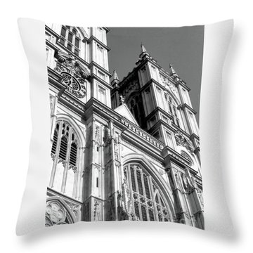 Portrait Of Westminster Abbey Throw Pillow
