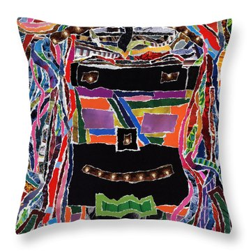 portrait of who   U  Me       or      someone U see  Throw Pillow