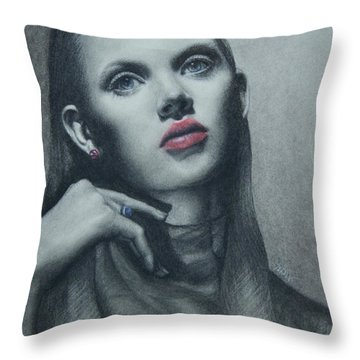 Portrait Study Throw Pillow