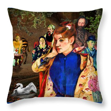 Portraiture Throw Pillow