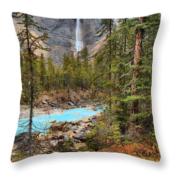 Throw Pillow featuring the photograph Portrait Of Takakkaw Falls by Adam Jewell