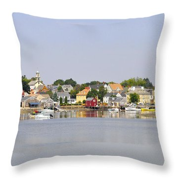 Portsmouth Nh South End Psep Throw Pillow by Jim Brage