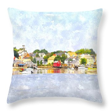 Portsmouth Nh South End Psewc Throw Pillow by Jim Brage