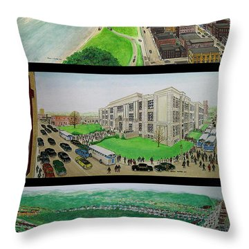 Portsmouth Ohio 1955 Throw Pillow