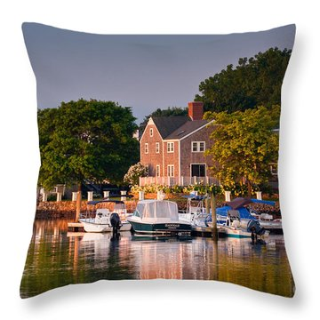 Portsmouth Riverfront Throw Pillow