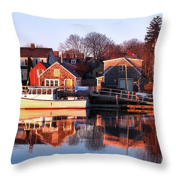 Portsmouth South End Sunrise Throw Pillow