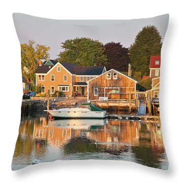 Portsmouth South End Waterfront Throw Pillow by Susan Cole Kelly