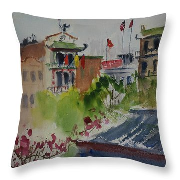 Portsmouth Square1 Throw Pillow