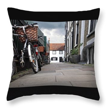 Throw Pillow featuring the photograph Portugal Place Cambridge by Gill Billington