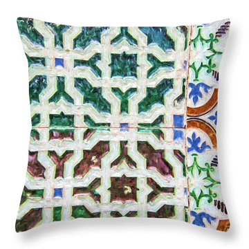 Portuguese Handmade Tile Throw Pillow