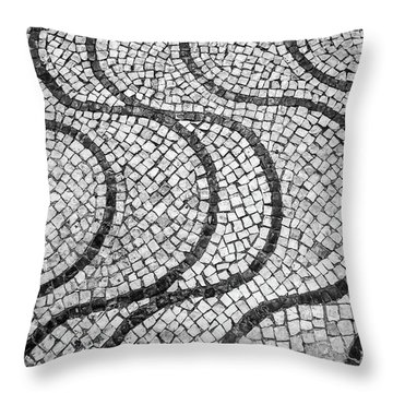 Portuguese Pavement Patterns In Cascais Throw Pillow