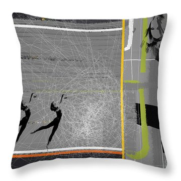 Pose And Jump Throw Pillow by Naxart Studio