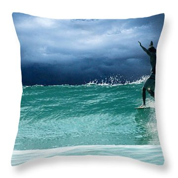 Poseiden's Prayer Throw Pillow