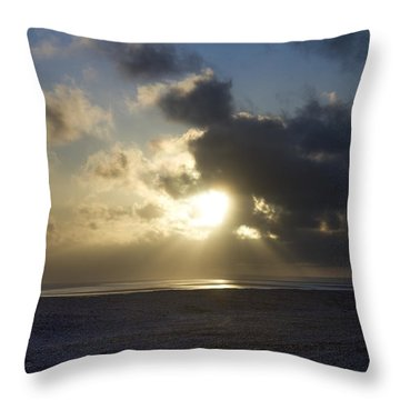 Poseidon Embellished By The Sun Throw Pillow