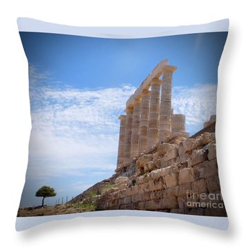 Poseidon Throw Pillow by Louise Fahy