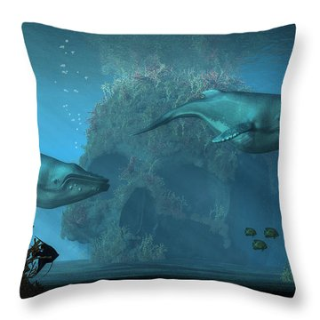 Poseidon's Grave Throw Pillow by Daniel Eskridge