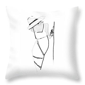 Posing Throw Pillow by Barbara Andolsek