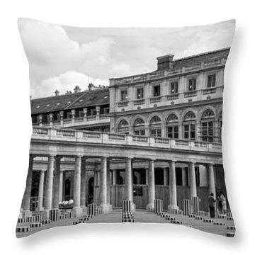 Posing For Photo Shoot At Le Palais Royal Throw Pillow
