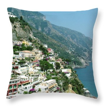 Positano In The Afternoon Throw Pillow