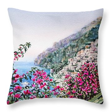 Positano Italy Throw Pillow