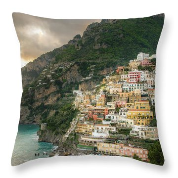 Positano Sunset Throw Pillow