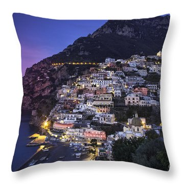 Positano Twilight Throw Pillow