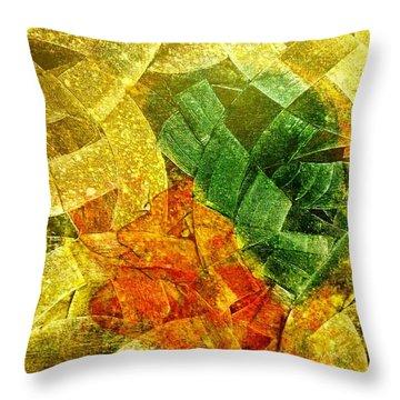 Positive Abstract Throw Pillow