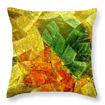 Positive Abstract Throw Pillow