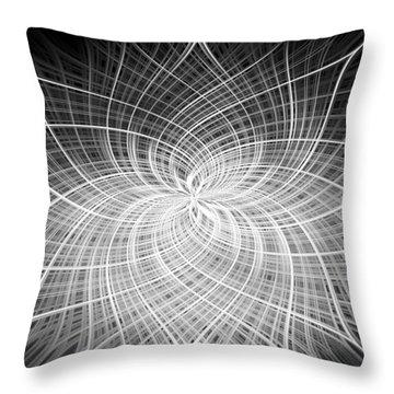 Throw Pillow featuring the digital art Positivity by Carolyn Marshall