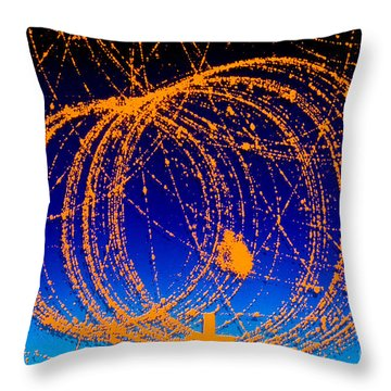 Positron Track Throw Pillow by Photo Researchers