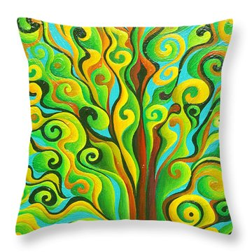Positronic Spirit Tree Throw Pillow