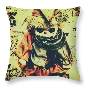 Possessed Vintage Horror Doll  Throw Pillow