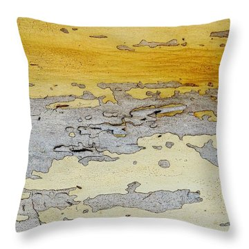 Possum Abstract Landscape 3 Throw Pillow