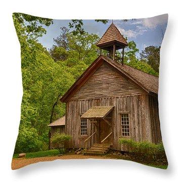Possum Trot Church Throw Pillow