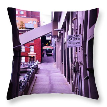 Post Alley, Seattle Throw Pillow