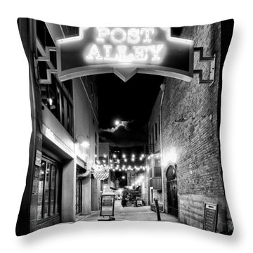 Post Alley Throw Pillow by Tanya Harrison