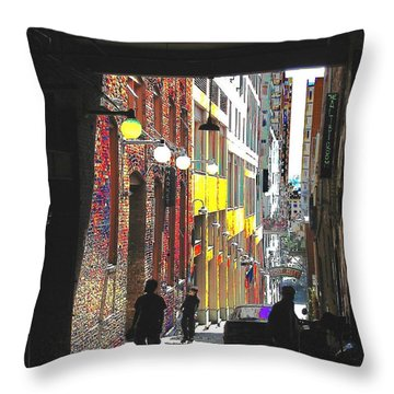 Post Alley Throw Pillow by Tim Allen