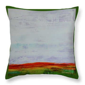 Throw Pillow featuring the painting Post Apocalypse by Kim Nelson