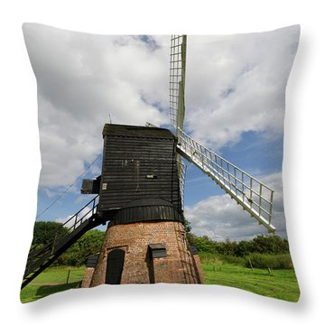 Post Mill Windmill Throw Pillow by Steev Stamford