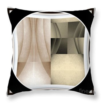 Post Modern Woman Series Two Throw Pillow