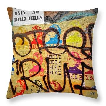 Post No Bills Hillary Clinton  Throw Pillow by Funkpix Photo Hunter