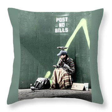 Throw Pillow featuring the photograph Post No Bills by Marvin Spates