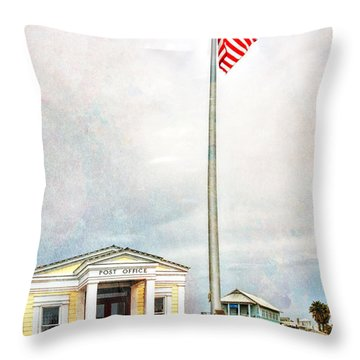 Post Office In Seaside Florida Throw Pillow by Vizual Studio
