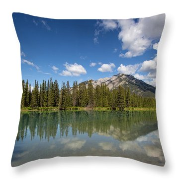 Postcard From Banff Throw Pillow