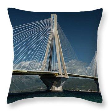 Postcard With Rio-andirio Bridge  Throw Pillow