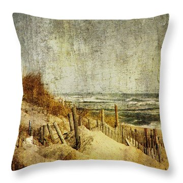 Postcards From Home Throw Pillow