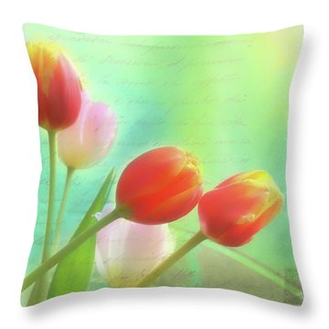 Postcards From The Edge Throw Pillow