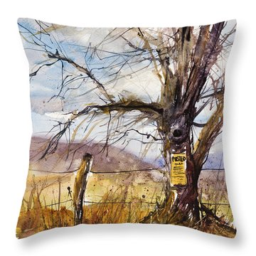 Posted Throw Pillow by Judith Levins